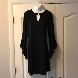 NWT Michael Kors black dress with bell sleeves